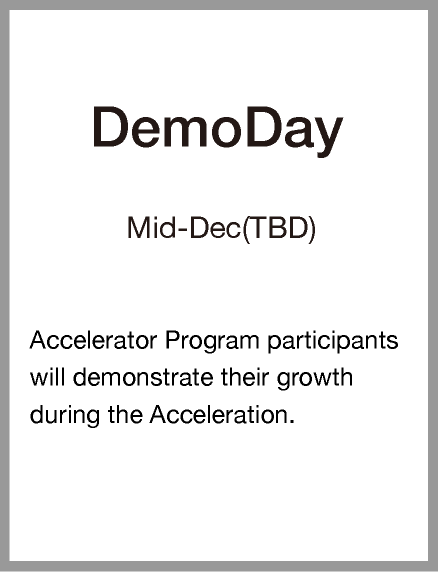Demoday Mid-Dec(TBD)